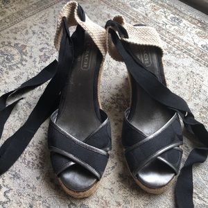 Great used condition espadrille shoes from Coach